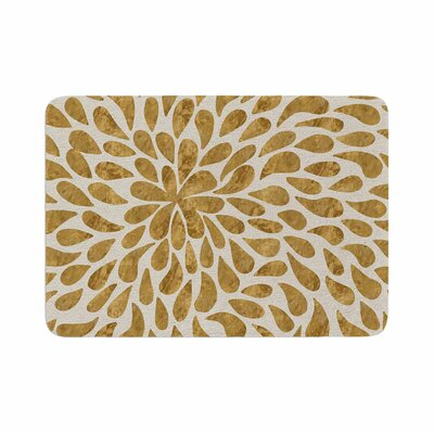 888 Design Abstract Flower Memory Foam Bath Rug Size: 0.5 H x 17 W x 24 D