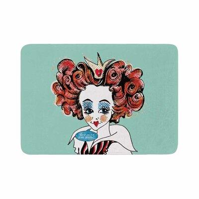 Zara Martina Queen Redhead Memory Foam Bath Rug Size: 0.5 H x 17 W x 24 D