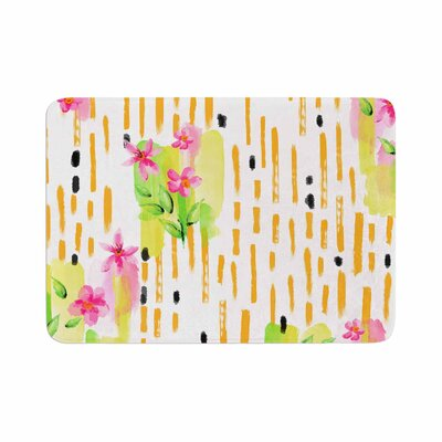 Victoria Krupp Watercolor Garden Floral Memory Foam Bath Rug Size: 0.5 H x 24 W x 36 D
