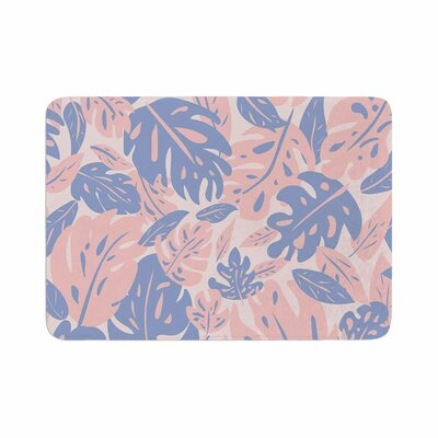 Will Wild Rose Quartz and Serenity Jungle Floral Memory Foam Bath Rug Size: 0.5 H x 24 W x 36 D