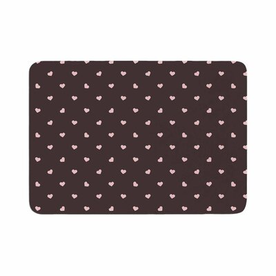 Vasare Nar Hearts and Love Digital Memory Foam Bath Rug Size: 0.5 H x 17 W x 24 D