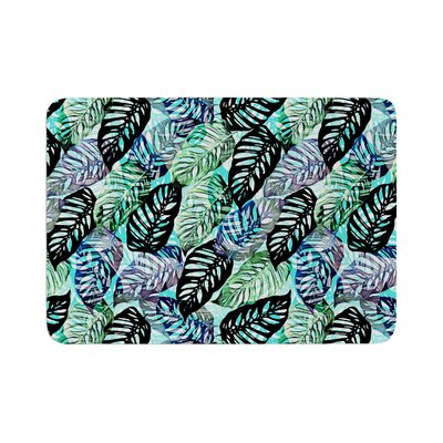Victoria Krupp Tropical Leaves Memory Foam Bath Rug Size: 0.5 H x 17 W x 24 D