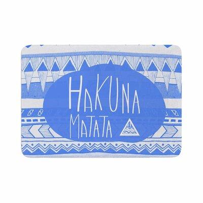 Vasare Nar Hakuna Matata Azure Illustration Memory Foam Bath Rug Size: 0.5 H x 17 W x 24 D