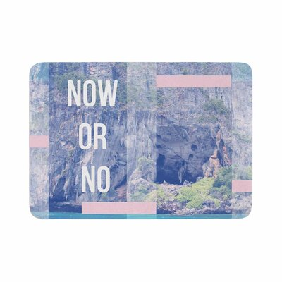 Vasare Nar Now Or No Mixed Media Memory Foam Bath Rug Size: 0.5 H x 24 W x 36 D
