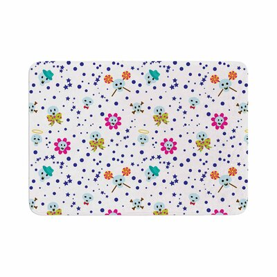 Billington Happy Skull Memory Foam Bath Rug Size: 0.5 H x 17 W x 24 D