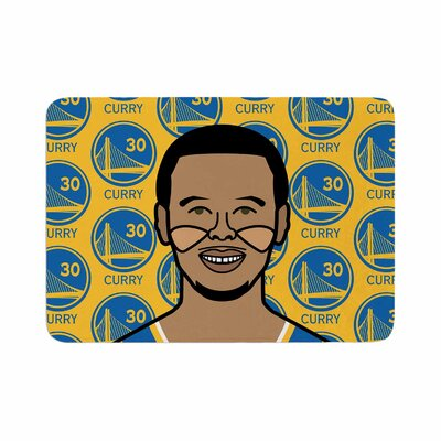 Will Wild Steph Curry Sports Memory Foam Bath Rug Size: 0.5 H x 17 W x 24 D