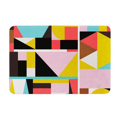Fimbis Kaku to Abstract Geometric Memory Foam Bath Rug Size: 0.5 H x 24 W x 36 D