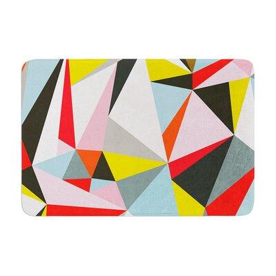 Fimbis Mosaik Geometric Memory Foam Bath Rug Size: 0.5 H x 24 W x 36 D