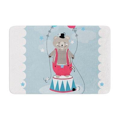 Michelle Drew Circus Bear Memory Foam Bath Rug Size: 0.5 H x 17 W x 24 D
