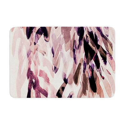 Iris Lehnhardt Abstract Leaves II Memory Foam Bath Rug