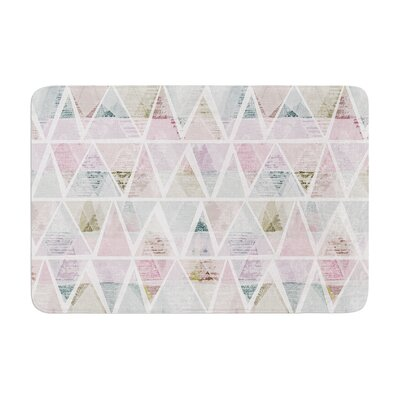 Michelle Drew Triangle Mountains Memory Foam Bath Rug Size: 0.5 H x 24 W x 36 D