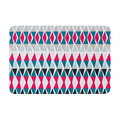Michelle Drew Triangle Circus Drums Memory Foam Bath Rug Size: 0.5 H x 17 W x 24 D