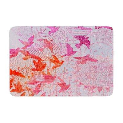 Marianna Tankelevich Birds Dream Lavender Memory Foam Bath Rug Size: 0.5 H x 17 W x 24 D