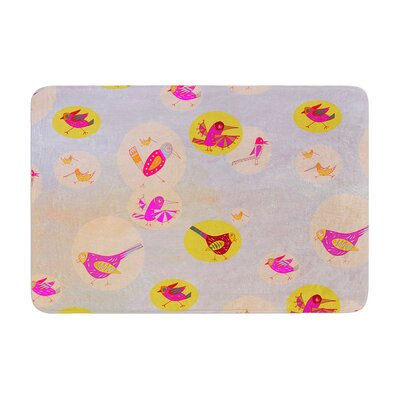 Marianna Tankelevich Birds Paradise Abstract Memory Foam Bath Rug Size: 0.5 H x 24 W x 36 D
