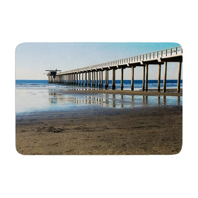 Nick Nareshni Scripps Beach Pier Coastal Photography Memory Foam Bath Rug Size: 0.5 H x 24 W x 36 D