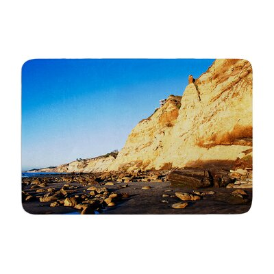 Nick Nareshni Beach Cliffside Rocks Memory Foam Bath Rug Size: 0.5 H x 24 W x 36 D