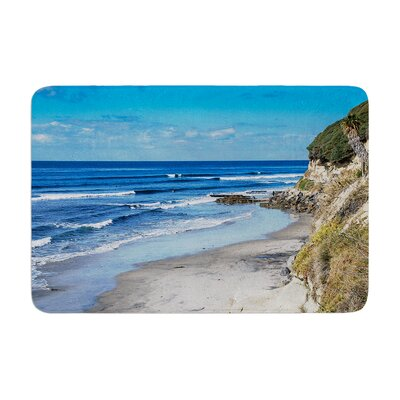 Nick Nareshni Swamis Beach Coast Coastal Memory Foam Bath Rug Size: 0.5 H x 24 W x 36 D