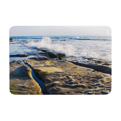 Nick Nareshni Wave Against Rocks Memory Foam Bath Rug Size: 0.5 H x 24 W x 36 D