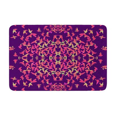Marianna Tankelevich Flying Birds Sunset Abstract Memory Foam Bath Rug Size: 0.5 H x 24 W x 36 D