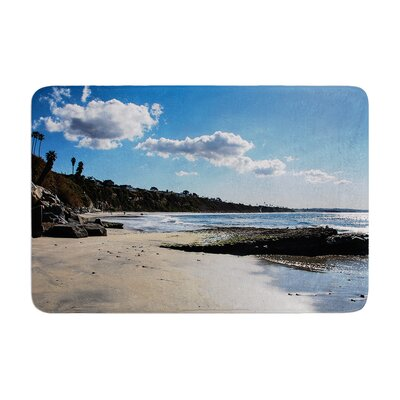 Nick Nareshni Clouds Over Swamis Beach Memory Foam Bath Rug Size: 0.5 H x 24 W x 36 D