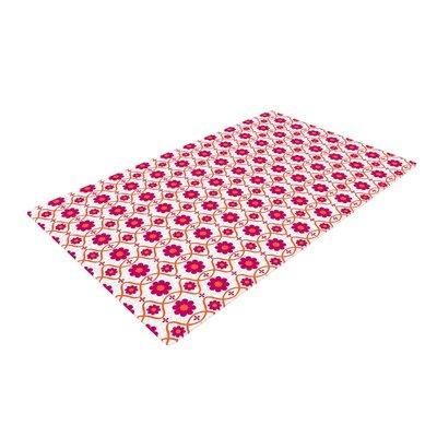 Nandita Singh Floral Pattern Magenta/Pink Area Rug Rug Size: 4 x 6