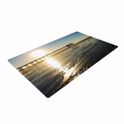 Nick Nareshni Sun Over Scripps Pier Tan/Brown Area Rug