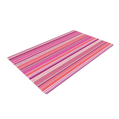 Nandita Singh Ribbons Pink/Purple Area Rug Rug Size: 4 x 6