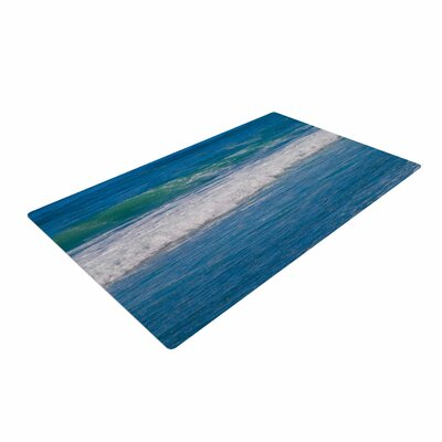 Nick Nareshni Solana Beach Rolling Waves Coastal Blue Area Rug