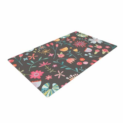 Nic Squirrell Wayside Flowers Multicolor Area Rug