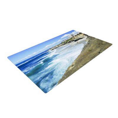 Nick Nareshni Beach Playground Blue/White Area Rug Rug Size: 4 x 6