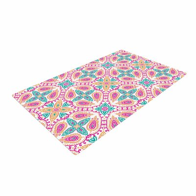 Nandita Singh Boho in Multicolor Abstract Pink Area Rug