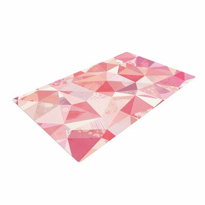 Nic Squirrell Crumpled Geometric Pink Area Rug