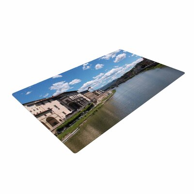 Nick Nareshni Canals of Italy Travel Blue Area Rug