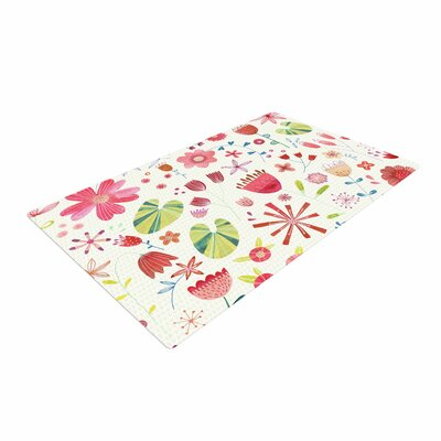 Nic Squirrell Pressed Wildflowers Green/Pink Area Rug