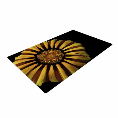 Nick Nareshni Flower Floral Photography Red/Yellow Area Rug