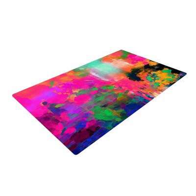 Oriana Cordero Montesilvano Abstract Painting Rainbow Area Rug