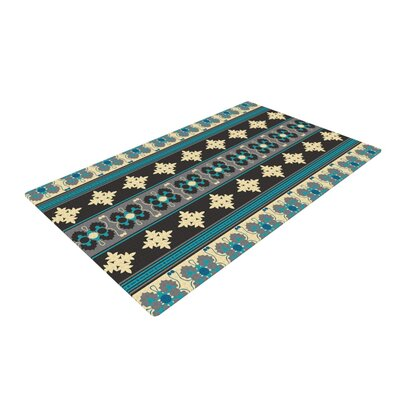 Nandita Singh Borders Blue/Teal/Yellow Area Rug