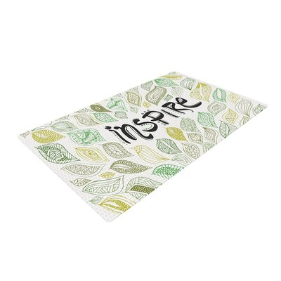Pom Graphic Design Inspire Green/Nature Area Rug Rug Size: 2 x 3