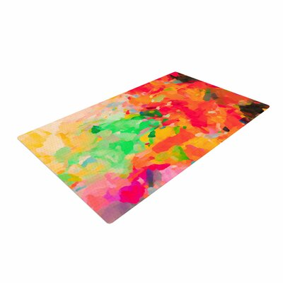 Oriana Cordero La Rochelle-Abstract Red/Multicolor Area Rug