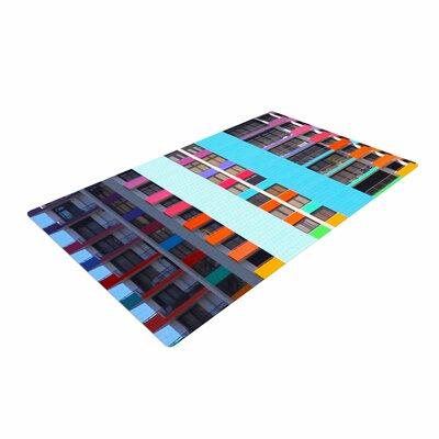 Philip Brown the Rainbow Building Modern Multicolor Area Rug