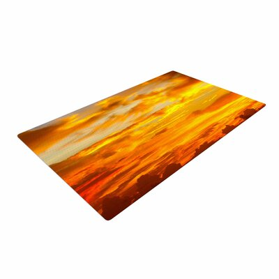 Philip Brown Painted Sunset Photography Orange Area Rug Rug Size: 4 x 6