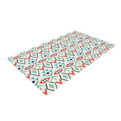 Pom Graphic Design Tribal Marrakech Red/White Area Rug Rug Size: Rectangle 4 x 6