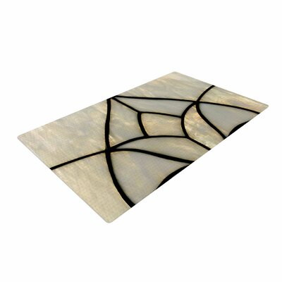 Philip Brown Tulip Stained Glass Floral Digital Gray Area Rug