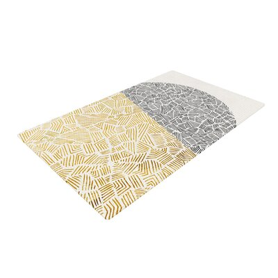 Pom Graphic Design Inca Day and Night Gold/Black Area Rug Rug Size: 2 x 3