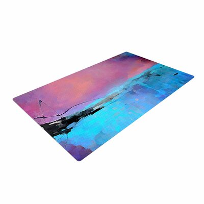 Oriana Cordero Versailles-Abstract Pink/Blue Area Rug Rug Size: 2 x 3