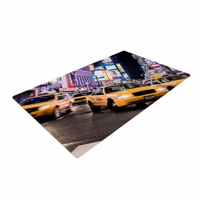 Juan Paolo Rush Hour Travel Urban Yellow Area Rug