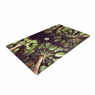 Richard Casillas Elevated Paradise Green/Black Area Rug Rug Size: 4 x 6