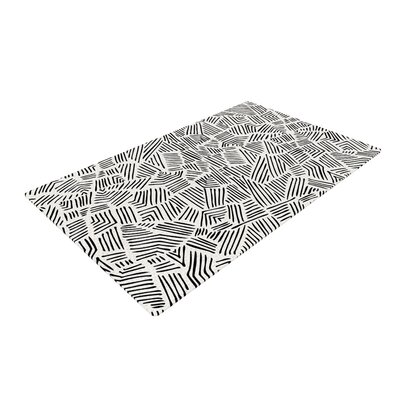 Pom Graphic Design Inca Lines Illustration Black Area Rug Rug Size: 2 x 3