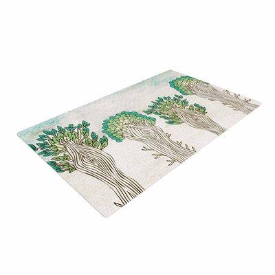 Pom Graphic Design Amazon Trees White/Nature Area Rug