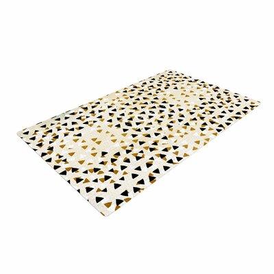 Pom Graphic Design Diamond Sky Beige/Black Area Rug